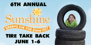 Tire Take Back, Sunshine Foundation