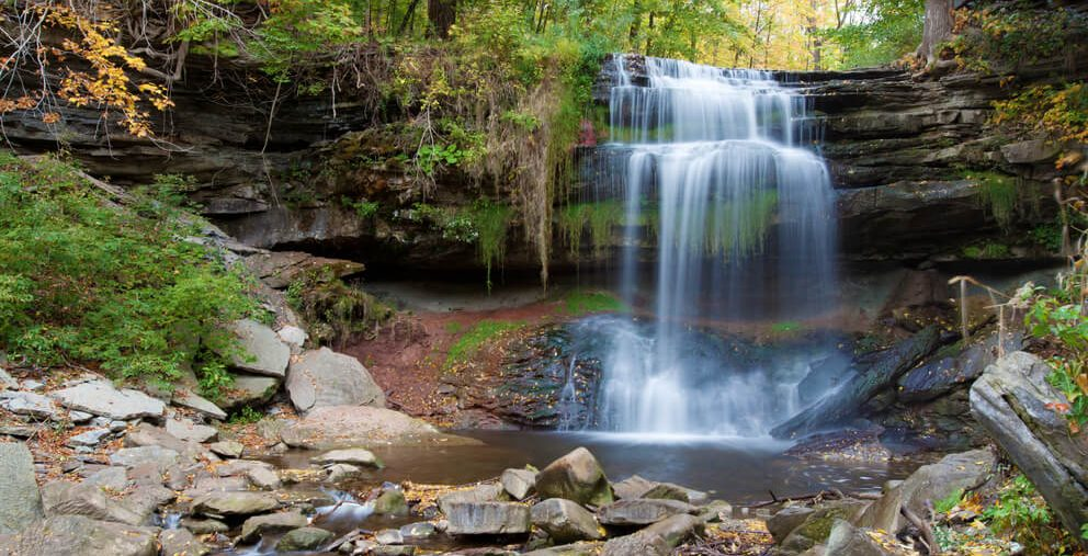 Hamilton waterfalls are a great destination for road trips
