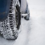 winter tire in snow