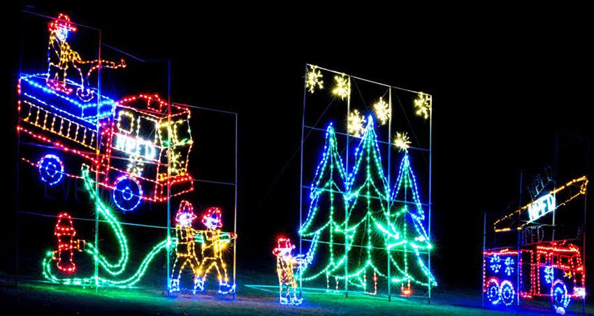 A Christmas light display at Bingeman's Gift of Lights