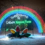 Christmas light display in Niagara Falls Ontario