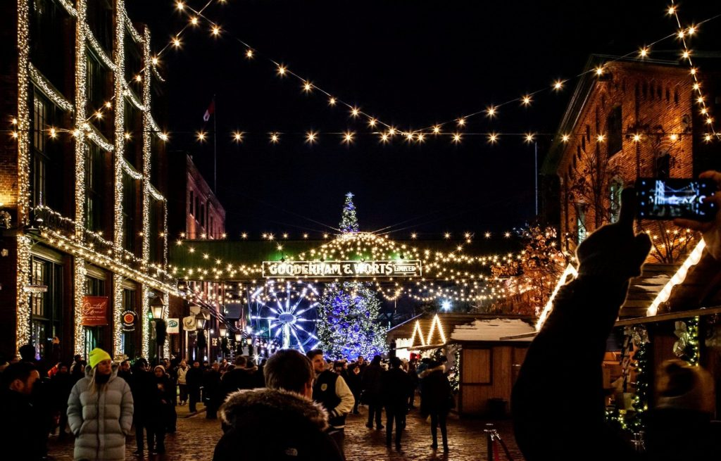 A picture of the Toronto Christmas market