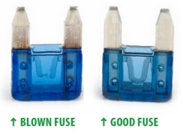 Blown fuse vs good fuse