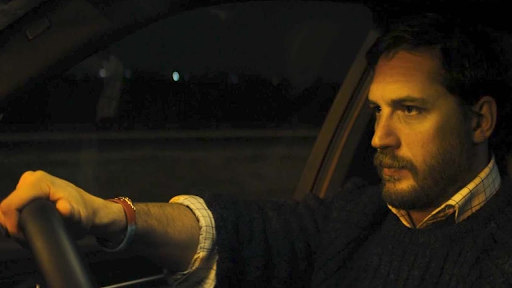 Tom Hardy driving his car in the movie Locke