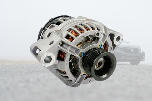 Alternator of a Honda overlaid on a Civic